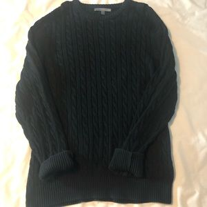 Black Old Navy Cable Knit Sweater